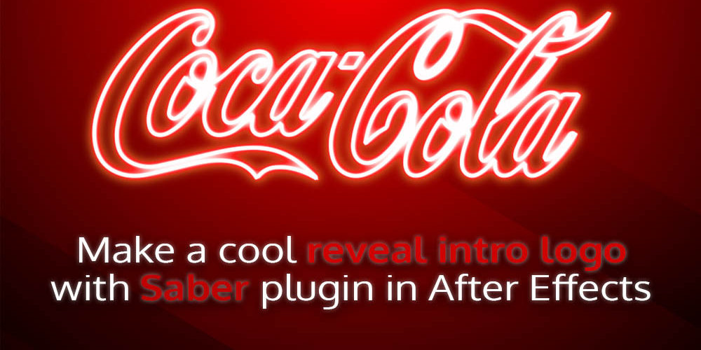Make a cool reveal intro logo with Saber plugin in After Effects